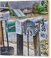 Mailboxes Wood Print