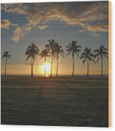Maili Sunset Wood Print
