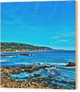 Main Beach Laguna Wood Print