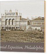 Main Building, Centennial Exposition, 1876, Philadelphia Wood Print
