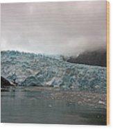 Main Glacier Wood Print
