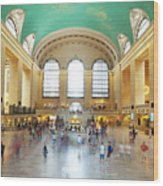 Main Hall Grand Central Terminal, New York Wood Print