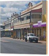 Collie Tidt Town  Wood Print