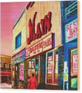 Main Steakhouse Blvd.st.laurent Wood Print