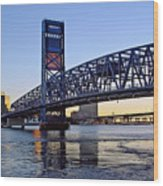 Main Street Bridge at Sunset Wood Print