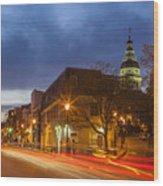 Main Street In Annapolis Wood Print