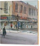 Main Street Marketplace - Waupaca Wood Print