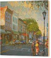 Main Street Nyack Ny  Wood Print by Ylli Haruni