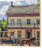 Main Street Of A Bygone Era At Old World Wisconsin Wood Print