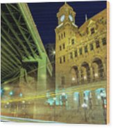 Main Street Station-vertical Wood Print