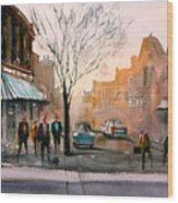 Main Street - Steven's Point Wood Print