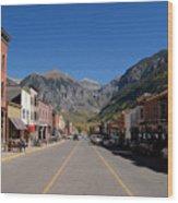 Main Street Telluride Wood Print