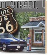 Main Street, Usa Camaro Wood Print