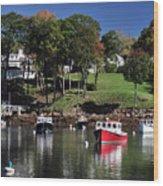 maine 18 Rock Port harbor View Wood Print