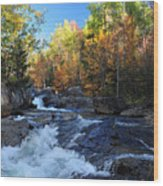 maine 38 Baxter State Park South Branch Stream Wood Print