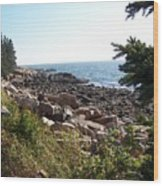 Maine Atlantic Ocean Coast Wood Print