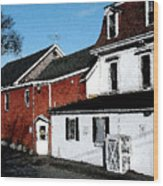 Maine Blue Hill Alleyway Wood Print