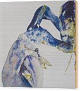 Maine Blue Lobster Wood Print