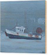 Maine Boat 2 Wood Print