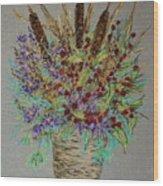 Maine Bouquet Wood Print by Collette Hurst