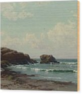 Maine Coast, C.1885 Oil On Canvas By Alfred Thompson Bricher Wood Print