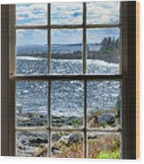 Maine Coast Picture Frame Wood Print