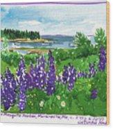Maine Coast Purple Lupine Art Wood Print