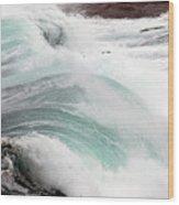 Maine Coast Storm Waves 3 Of 3 Wood Print