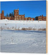 Maine Criminal Justice Academy In Winter Wood Print