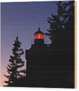 Maine Lighthouse Wood Print