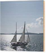 Maine Schooner Wood Print