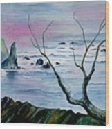 Maine Seawatch Wood Print