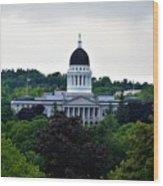 Maine State House Wood Print