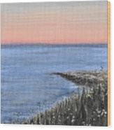 Maine Sunset Wood Print