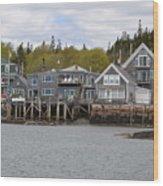 Maine Village Wood Print