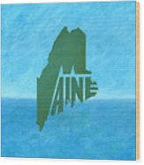 Maine Wordplay Wood Print