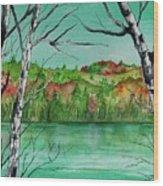 Maine's Autumn Finery Wood Print