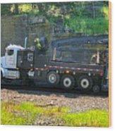 Maintenance Truck Wood Print