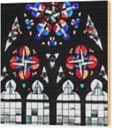 Mainz Cathedral Window Wood Print