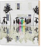 Maison De La Tarte Wood Print