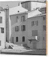 Maisons Sur Le Bord De La Mer A Saint - Tropez Wood Print