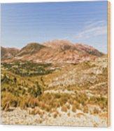Majestic Arid Peaks Wood Print