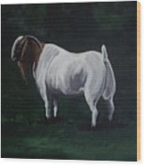 Majestic Boer Buck Wood Print