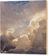 Majestic Clouds Wood Print