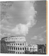 Majestic Colosseum Wood Print by Stefano Senise