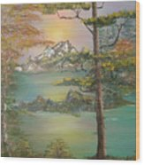 Majestic Cove Wood Print