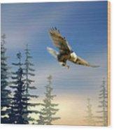Majestic Eagle Wood Print