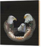 Majestic Eagles Wood Print