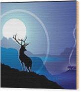 Majestic Elk Coolridge Wood Print