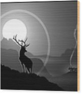 Majestic Elk Stoneridge Wood Print